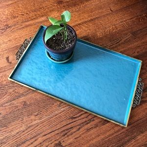 Moire Glaze Kyes Vintage Metal Tray